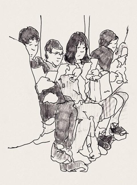 平山広一さん、アート展示と似顔絵ワークショップ開催